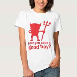 ¿El DIABLO ROJO le tiene sido un buen muchacho? Camisetas