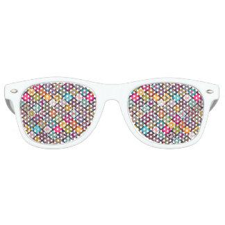 El diamante colorido tejó el estampado de flores gafas de sol