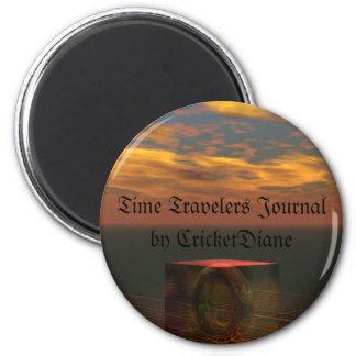 El diario de los viajeros del tiempo por el cricke imán redondo 5 cm