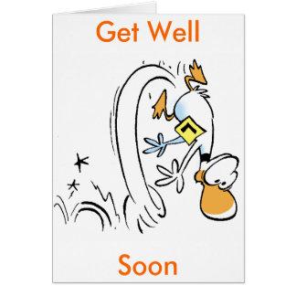 El dibujo animado del pato consigue bien pronto felicitaciones