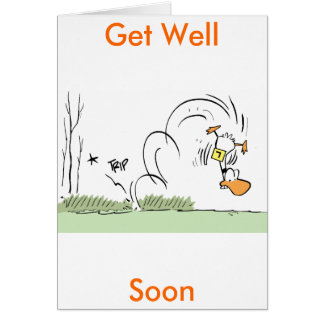 El dibujo animado del pato consigue pronto la tarjeta de felicitación