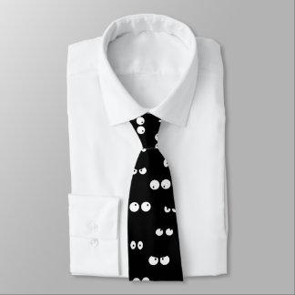 el dibujo animado divertido observa blanco y negro corbatas