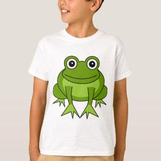 El dibujo animado lindo de la rana embroma la camiseta
