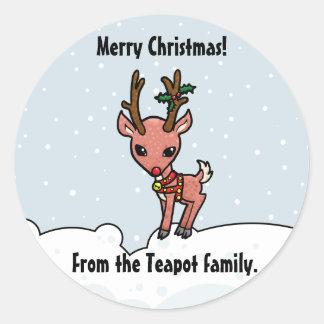 El dibujo animado Rudolf modifica al pegatina del