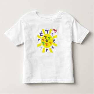 El dibujo en creyón de los niños lindos camiseta de bebé