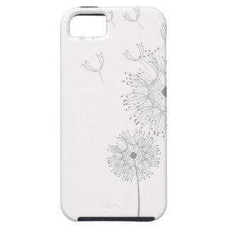 El diente de león florece ducha romántica del boda iPhone 5 cárcasas