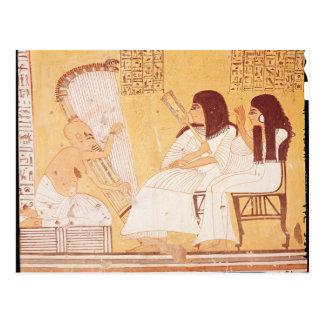 El difunto y su esposa postal
