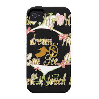 El dinero habla en mis sueños y amo it.png iPhone 4 carcasas