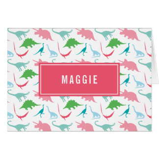 El dinosaurio de muy buen gusto del chica tarjeta pequeña
