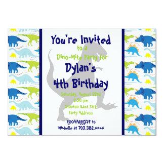 El dinosaurio de T Rex embroma invitaciones de la Invitacion Personal