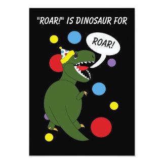 El dinosaurio de T-Rex embroma la invitación de la