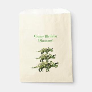 El dinosaurio del feliz cumpleaños planta vagos bolsa de papel