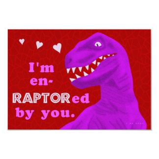 El dinosaurio del rapaz de la tarjeta del día de invitación 8,9 x 12,7 cm