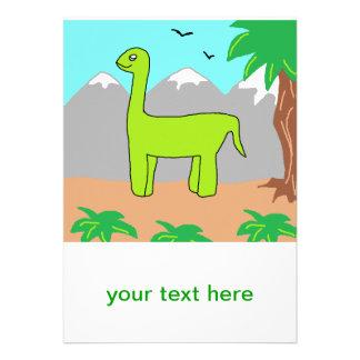 El dinosaurio feliz invitación personalizada