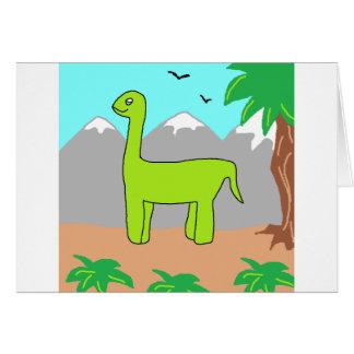 El dinosaurio feliz tarjeta de felicitación