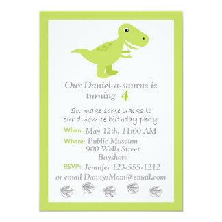 El dinosaurio T-rex embroma personalizar de la Invitación 12,7 X 17,8 Cm