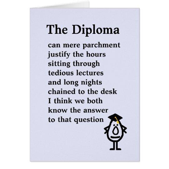 El diploma tarjeta de felicitación