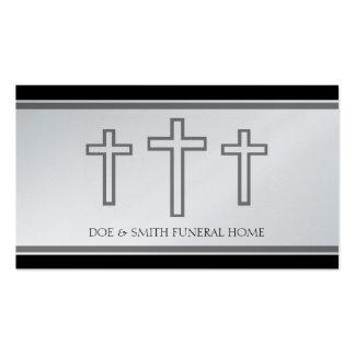 El director de funeraria cruza el papel del platin plantillas de tarjetas personales