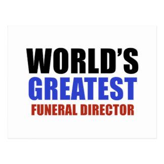 El director de funeraria más grande del mundo postal