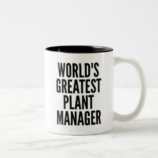 El director de planta más grande de los mundos taza de dos tonos