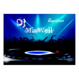 El disc jockey DJ va de fiesta la tarjeta de Plantilla De Tarjeta Personal