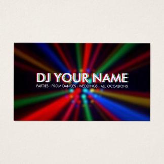 El disco de DJ emite la tarjeta de visita de las