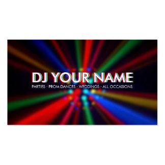 El disco de DJ emite la tarjeta de visita de las l