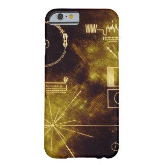El disco de oro del viajero funda de iPhone 6 barely there
