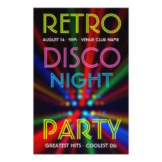El disco emite el aviador de DJ del ir de discotec Flyer A Todo Color