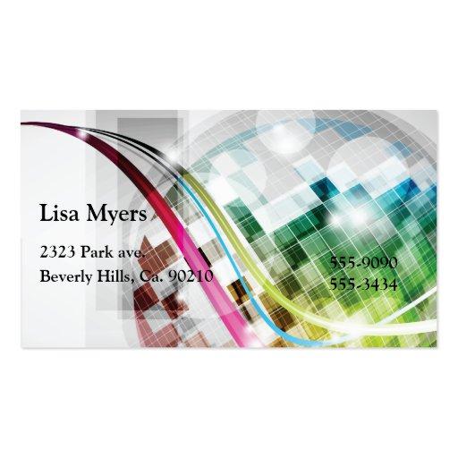 El disco enciende la bola plantilla de tarjeta de visita