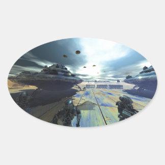 el disco estupendo pegatina ovalada
