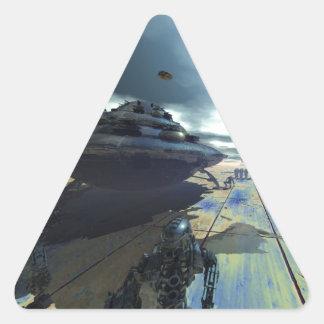 el disco estupendo pegatina triangular