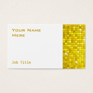 El disco teja blanco amarillo del lado de la tarjeta de negocios