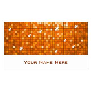 El disco teja blanco anaranjado de la tarjeta de tarjetas de visita