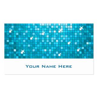 El disco teja blanco azul de la tarjeta de visita