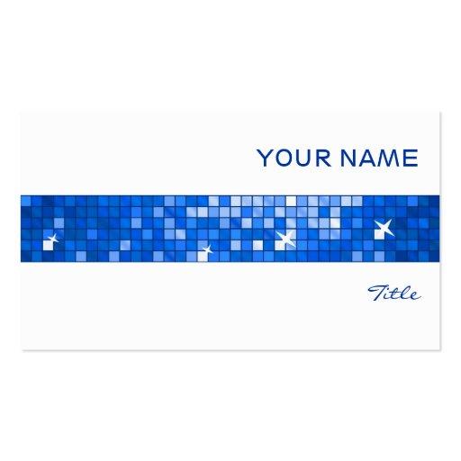 El disco teja blanco azul marino de la raya de la  tarjeta personal