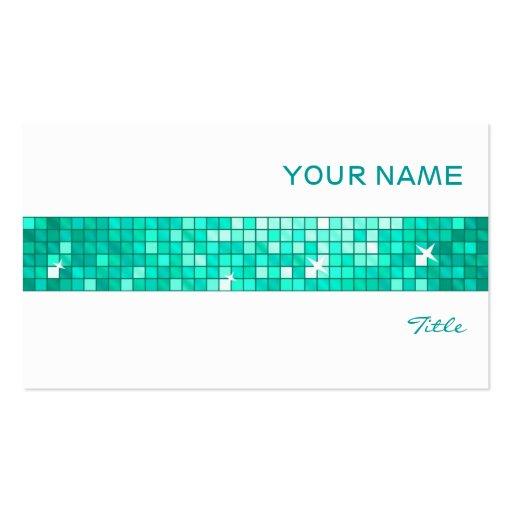 El disco teja blanco de la raya de la teja de la t tarjetas de negocios