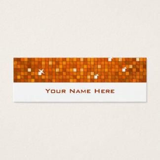 El disco teja blanco flaco anaranjado de la tarjeta de visita pequeña