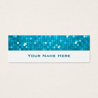 El disco teja blanco flaco azul de la tarjeta de