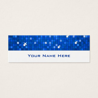 El disco teja blanco flaco azul marino de la tarjeta de visita pequeña