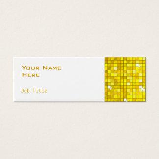 El disco teja blanco flaco de visita del lado tarjeta de visita pequeña