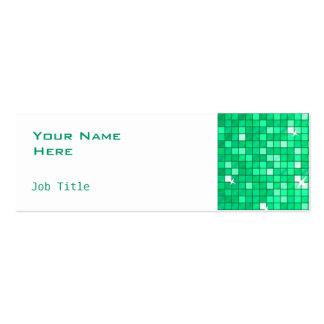 El disco teja blanco flaco del lado de la tarjeta tarjetas de visita mini
