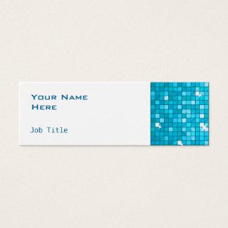 El disco teja blanco flaco lateral azul tarjeta de visita pequeña