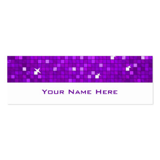 El disco teja blanco flaco púrpura de la tarjeta d tarjetas de negocios