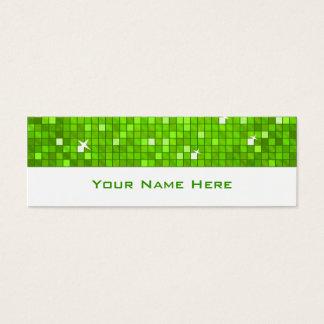 El disco teja blanco flaco verde de la tarjeta de
