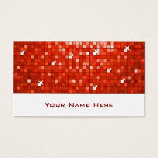 El disco teja blanco rojo de la tarjeta de visita