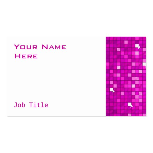 El disco teja blanco rosado del lado de la tarjeta tarjeta de visita