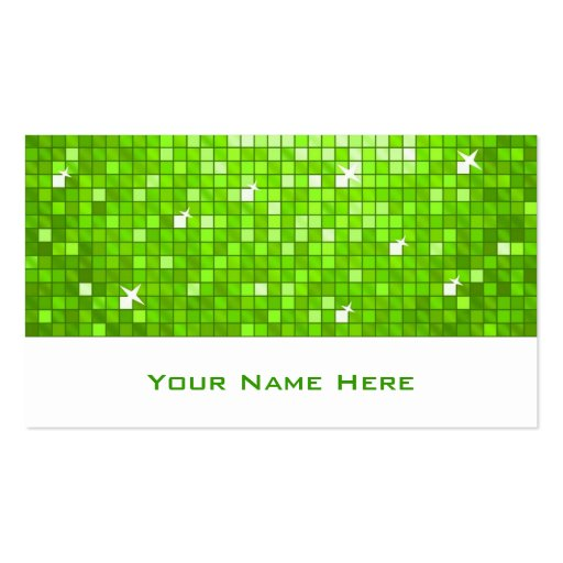 El disco teja blanco verde de la tarjeta de visita