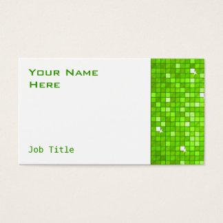 El disco teja blanco verde del lado de la tarjeta