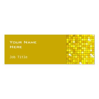El disco teja el lado amarillo de la tarjeta de tarjetas de visita mini